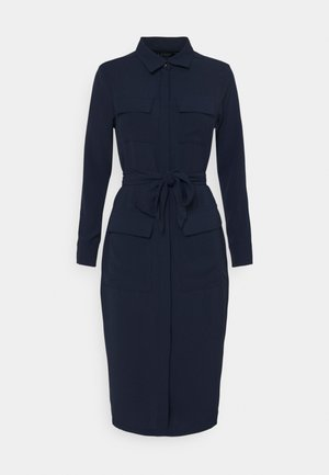 FIELD LONG SLEEVE CASUAL DRESS - Shirt dress - french navy