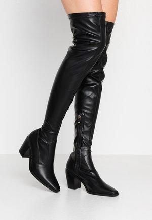 HETTIE - Overknee laarzen - black