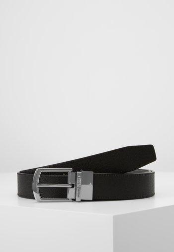 BUCKLE BELT UNISEX - Belt - black/grey