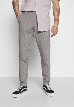 ONSMARK PANT STRIPE - Tygbyxor - light grey melange