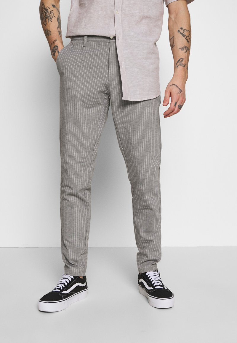 Only & Sons - ONSMARK PANT STRIPE - Tygbyxor - light grey melange