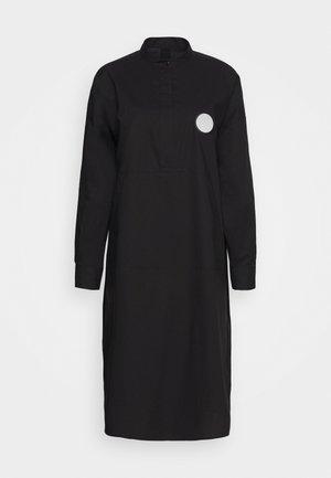 PARACHUTE POPLIN DRESS - Abito a camicia - black