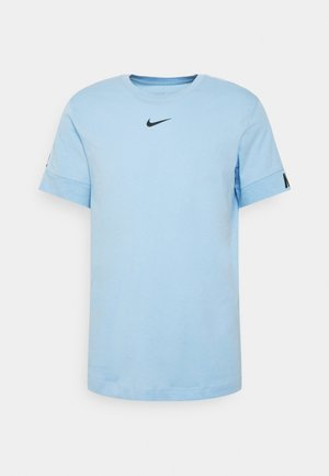 REPEAT TEE - Print T-shirt - psychic blue/black