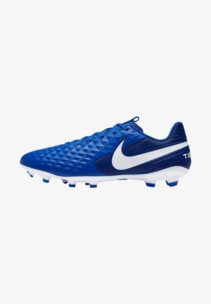 TIEMPO - Moulded stud football boots - white/blue