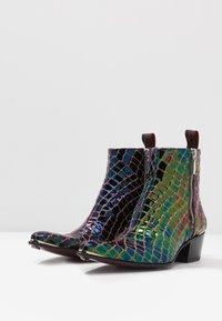 Jeffery West - SYLVAIN DOUBLE ZIP - Classic ankle boots - petol - 2