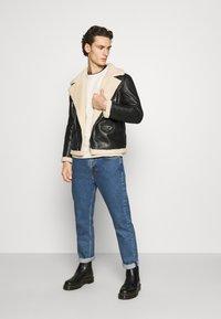 Sixth June - AVIATOR JACKET - Faux leather jacket - black - 1