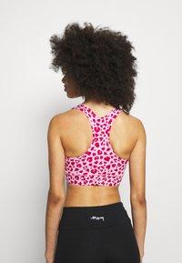 Hey Honey - BRA LEOHEARTS - Light support sports bra - macaron - 2