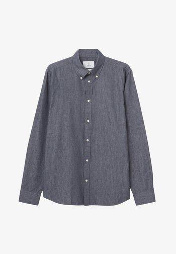 MILTON TWILL - Skjorta - dark blue mel