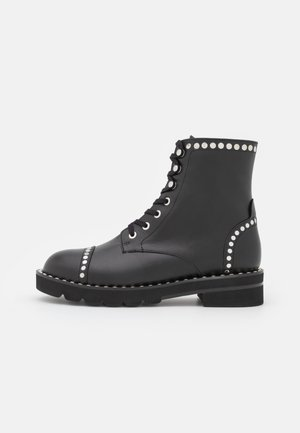 MILA LIFT STUDS BOOTIE - Lace-up ankle boots - black