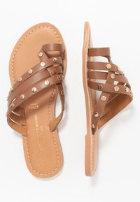 Dorothy Perkins - JANGO STUD TRIM SLIDE - T-bar sandals - tan - 3