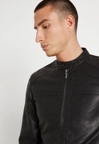 Only & Sons - ONSMIKE RACER - Faux leather jacket - black - 6