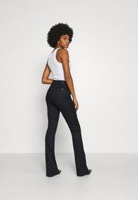G-Star - 3301 HIGH FLARE - Flared Jeans - black metalloid cobler - 2