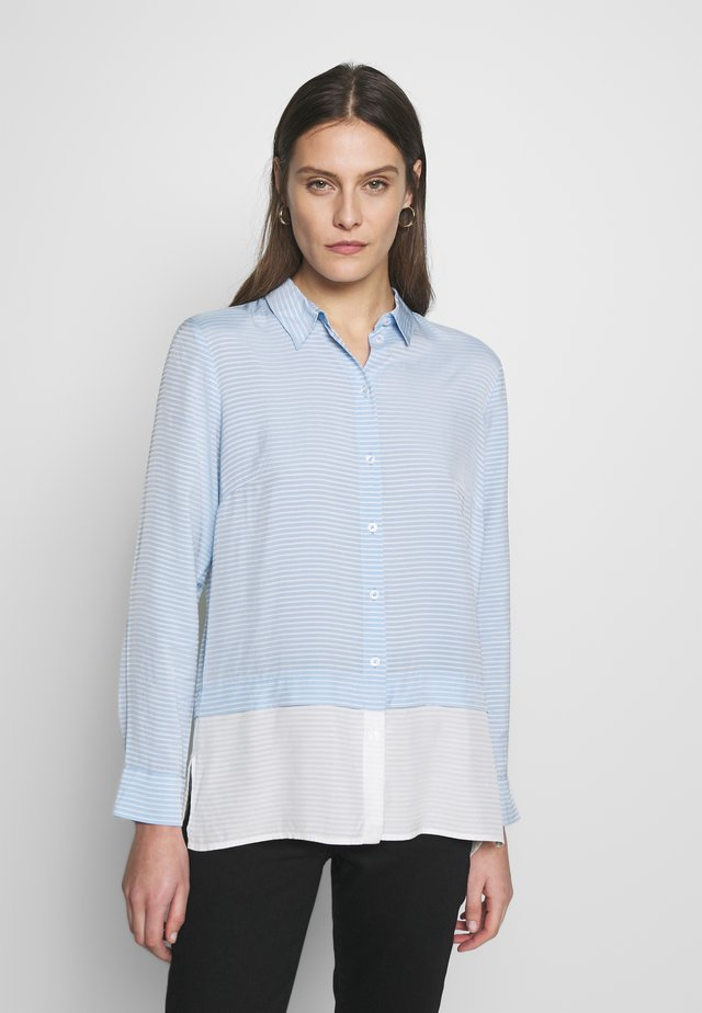 DOUBLELAYER STRIPE - Button-down blouse - soft charming blue