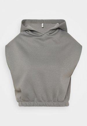 SHORT SLEEVE HOODIE - Sweatshirt - gray/blue