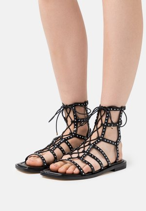 KORA LACE UP - Sandály - black