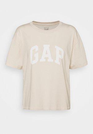EASY TEE - T-shirt imprimé - ecru