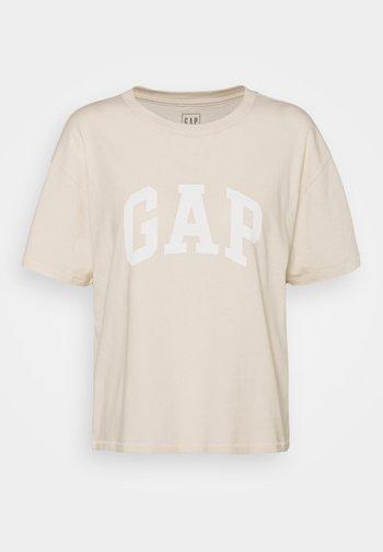 EASY TEE - Print T-shirt - ecru