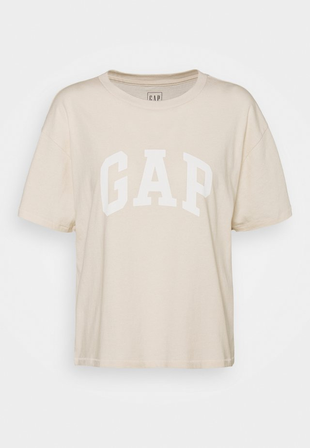 EASY TEE - T-shirts med print - ecru