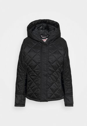 WOMENS REFINED QUILTED JACKET - Lehká bunda - black