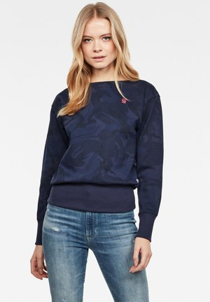 XZYPH AO ROUND LONG SLEEVE - Sweatshirt - servant blue