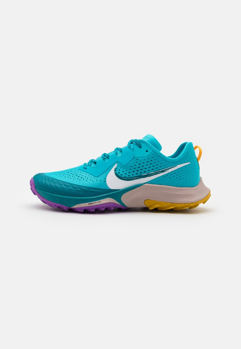 Nike Performance - AIR ZOOM TERRA KIGER 7 - Scarpe da trail running - turquoise blue/white/mystic teal/university gold/wild berry