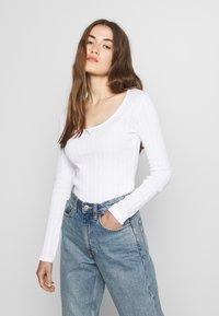 Even&Odd - Bluzka z długim rękawem - white - 0