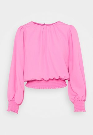 SHIRRED HEM  - Blouse - pink