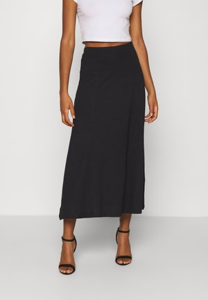 Basic maxi skirt - Falda acampanada - black