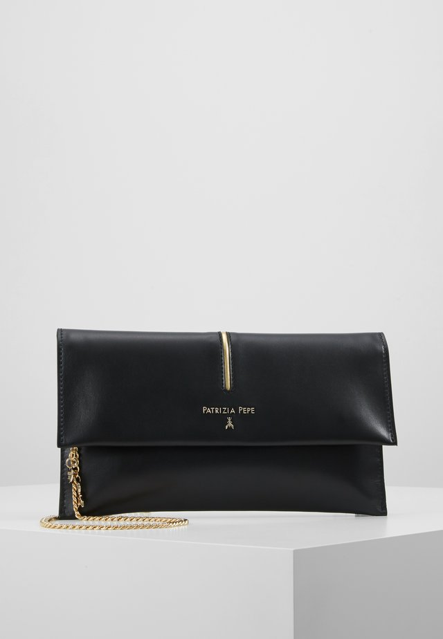 POCHETTE PIPING - Pochette - nero