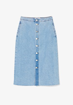 A-line skirt - multi/vintage light blue