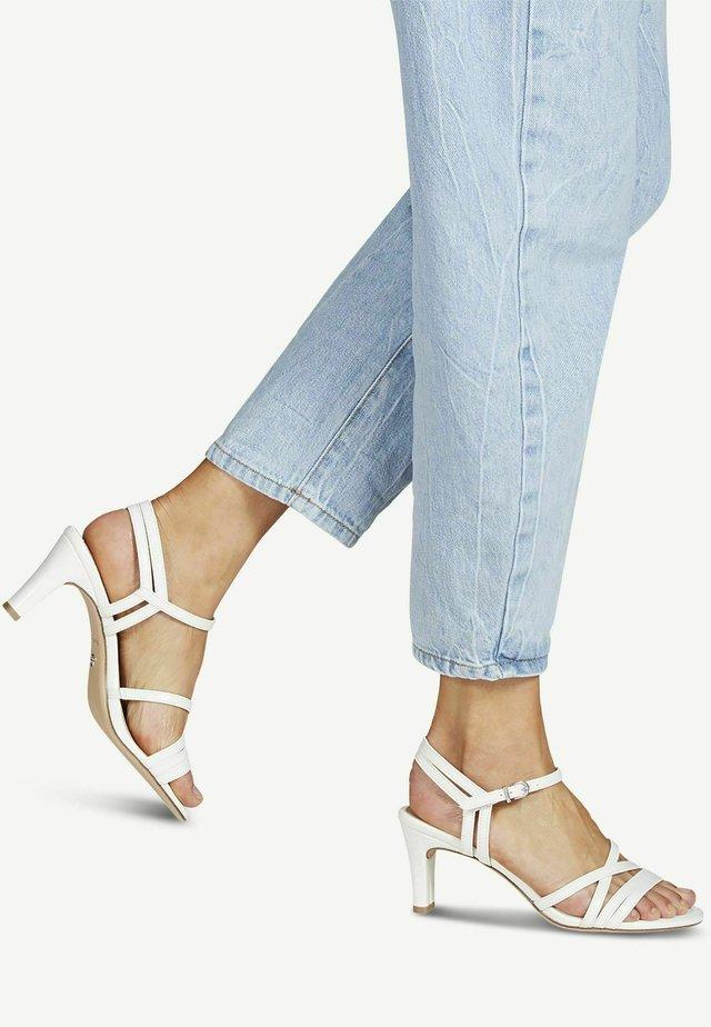 Sandales à talons hauts - white patent