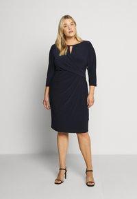 Lauren Ralph Lauren Woman - CARLONDA-LONG SLEEVE-DAY DRESS - Sukienka letnia - lighthouse navy - 1