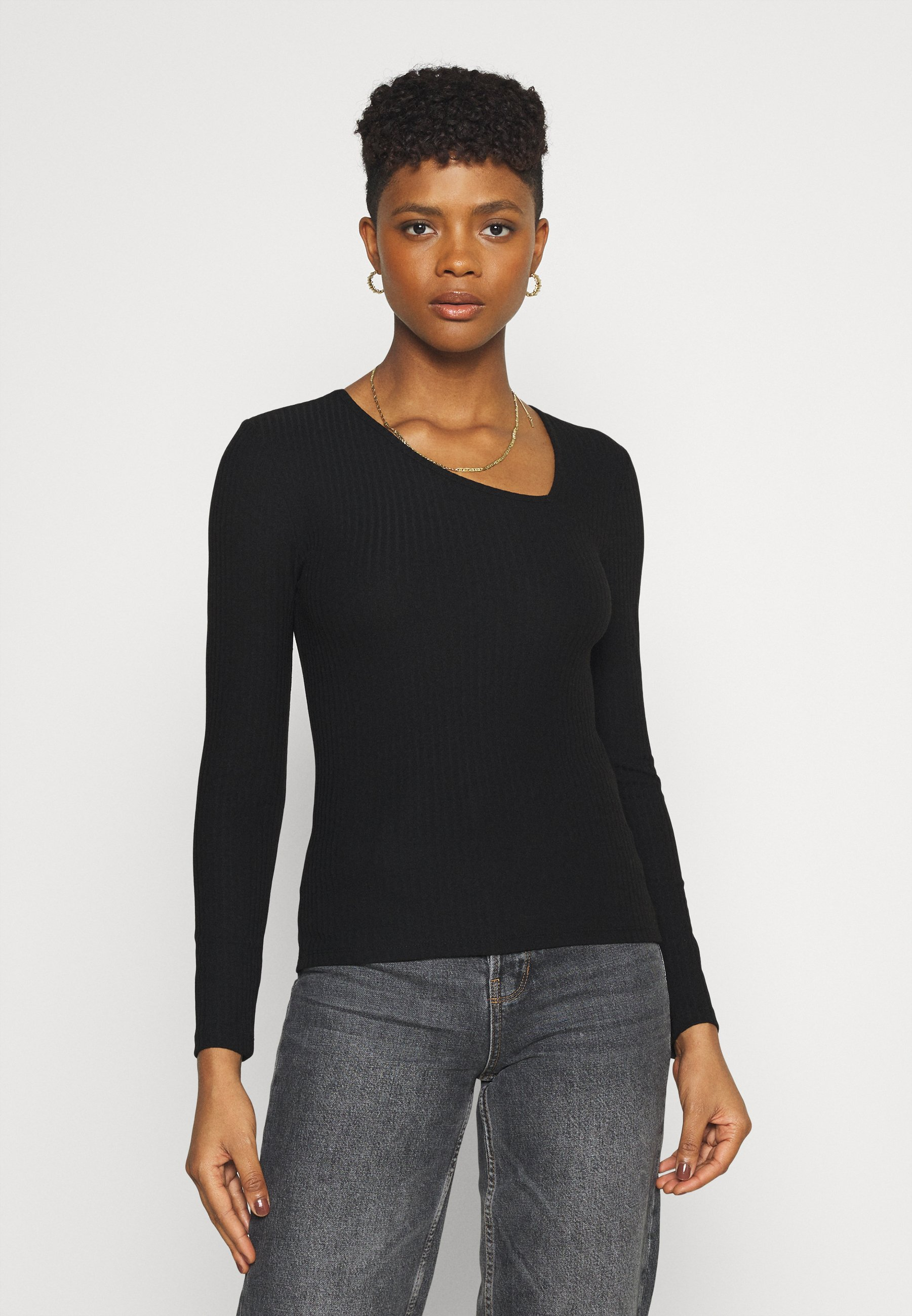 Women ONLNELLA SIDE V NECK - Long sleeved top