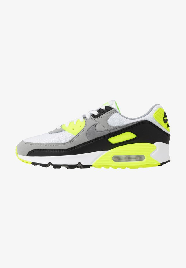 AIR MAX 90 - Trainers - white/particle grey/light smoke grey/black/volt