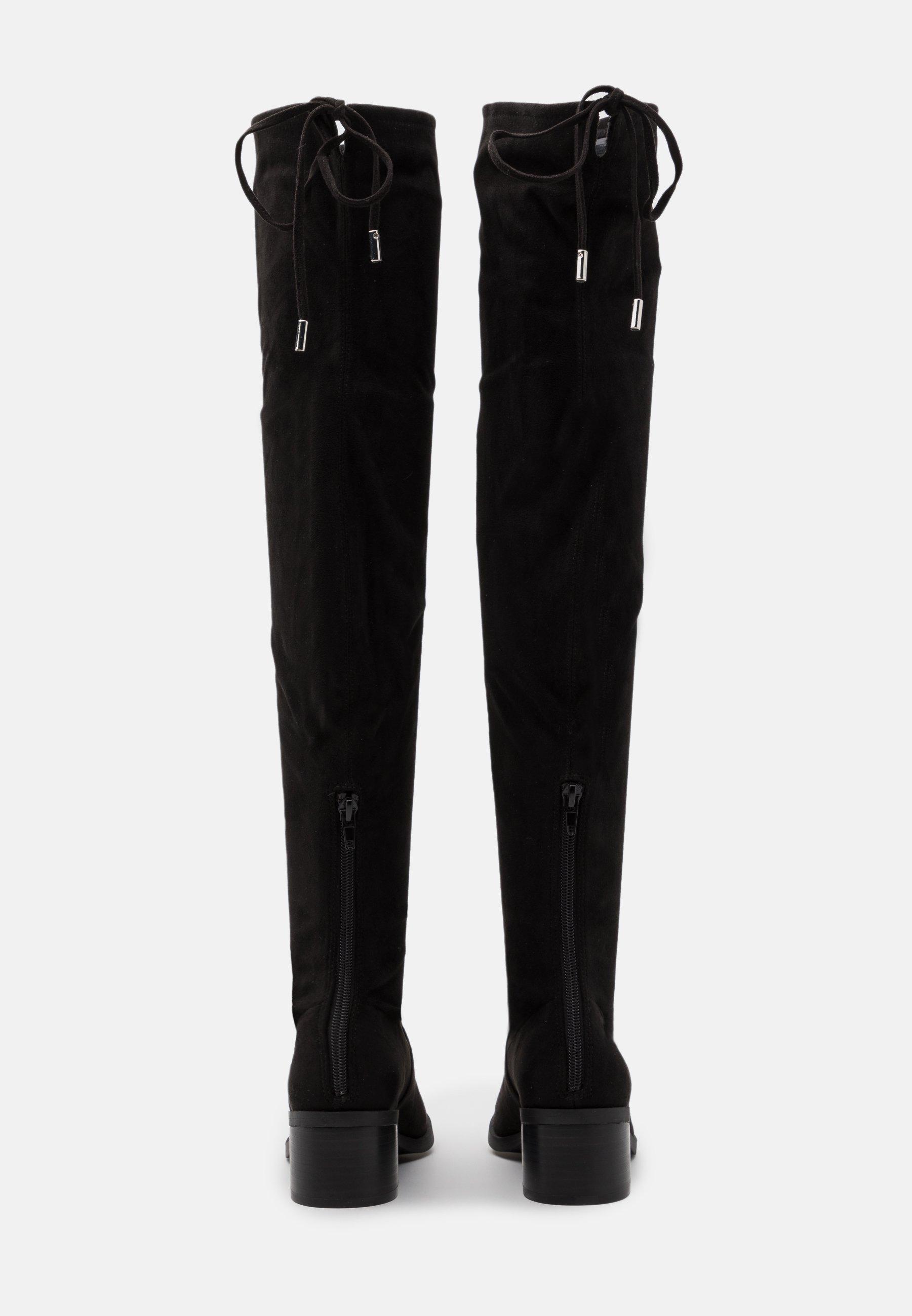 GERARDINE Overknee laarzen black