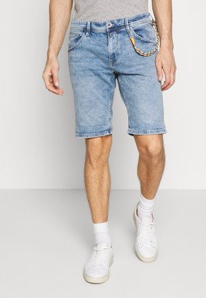 REGULAR FIT - Denim shorts - used light stone blue denim