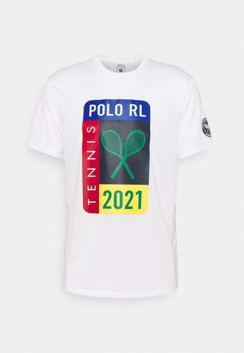 PERFORMANCE - T-shirt con stampa - pure white