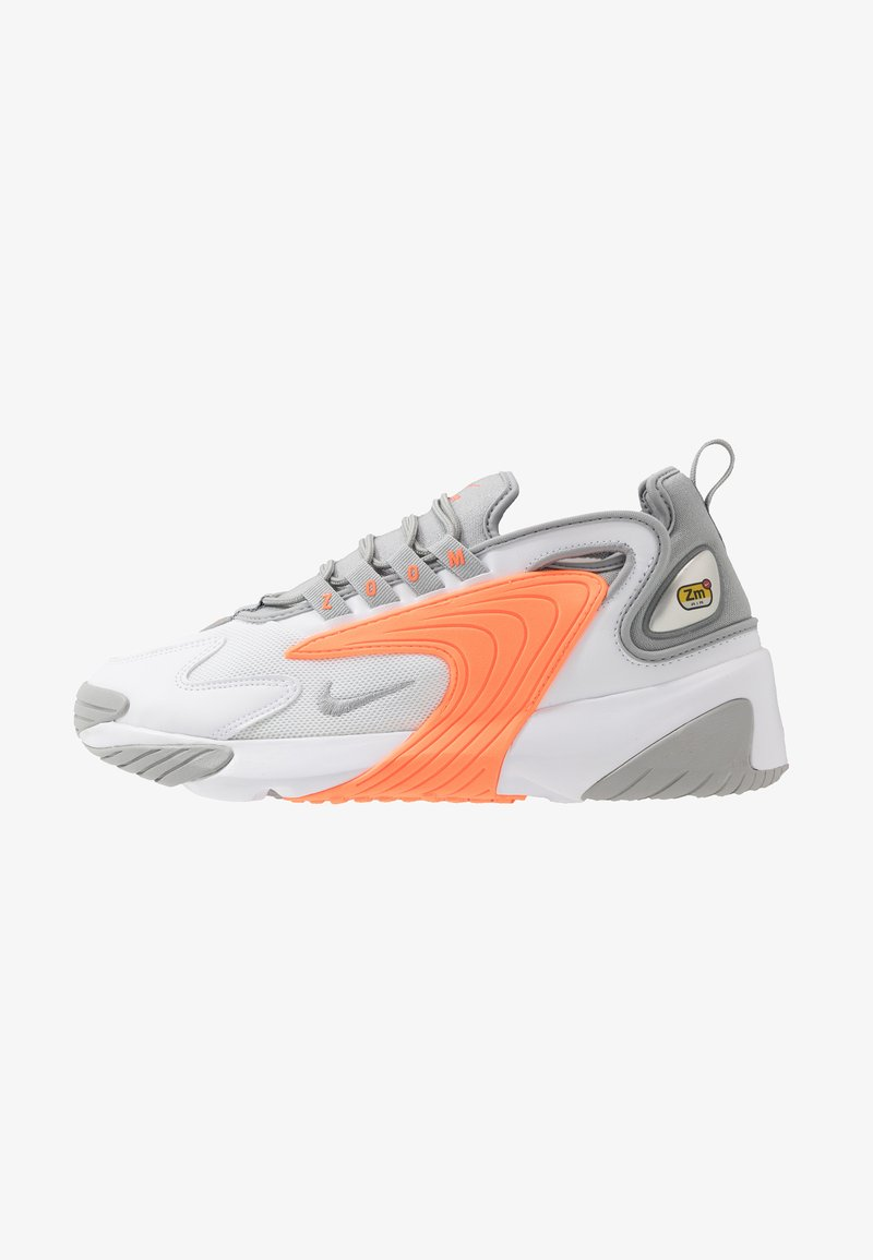 Nike Sportswear - ZOOM  - Sneakers - white/grey/orange