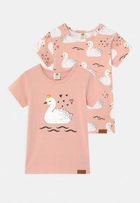 Walkiddy - PRINCESS SWANS 2 PACK - T-shirt print - pink - 0