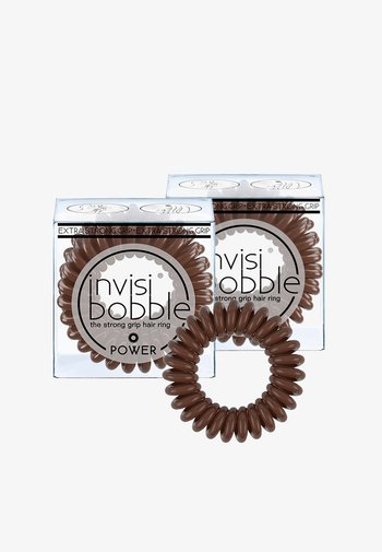 POWER HAARGUMMI 2 PACK - Hair styling accessory - pretzel brown