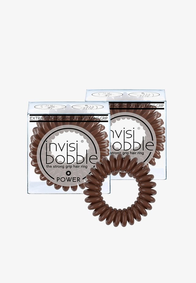 POWER HAARGUMMI 2 PACK - Hair styling accessory - pretzel brown