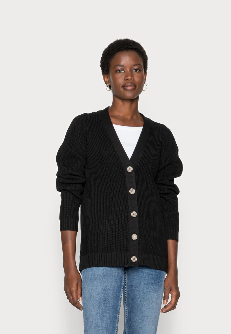 Selected Femme - SLFEMMY  BUTTONCARDIGAN  NOOS - Cardigan - black