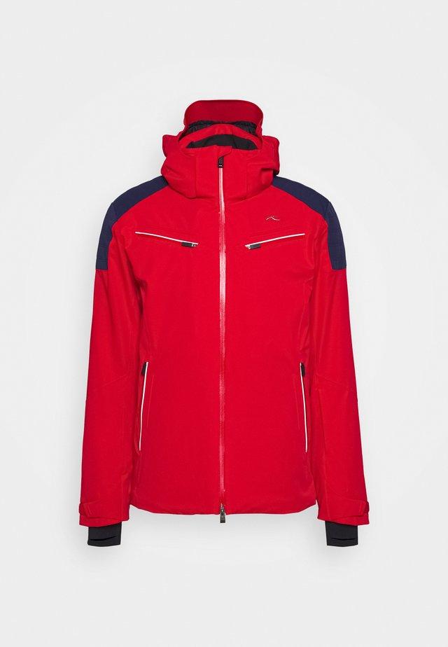 MEN FORMULA JACKET - Lyžařská bunda - red/dark blue
