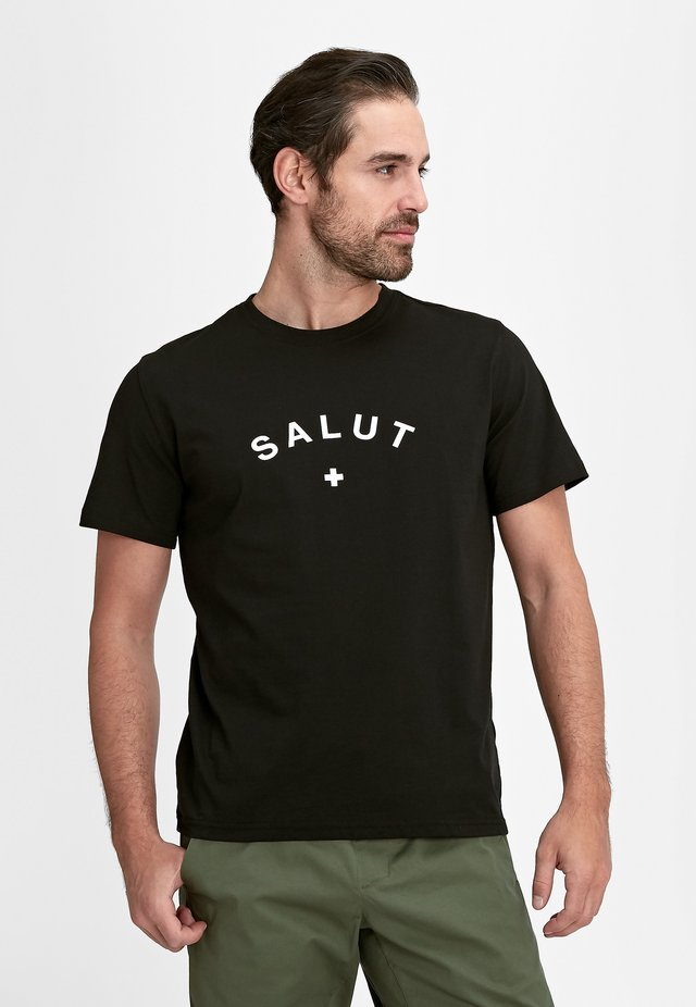 PEAKS - T-shirt print - black prt salut