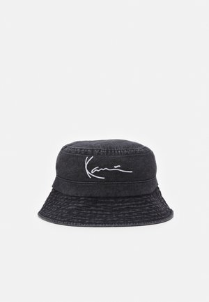 SIGNATURE BUCKET HAT UNISEX - Hoed - black