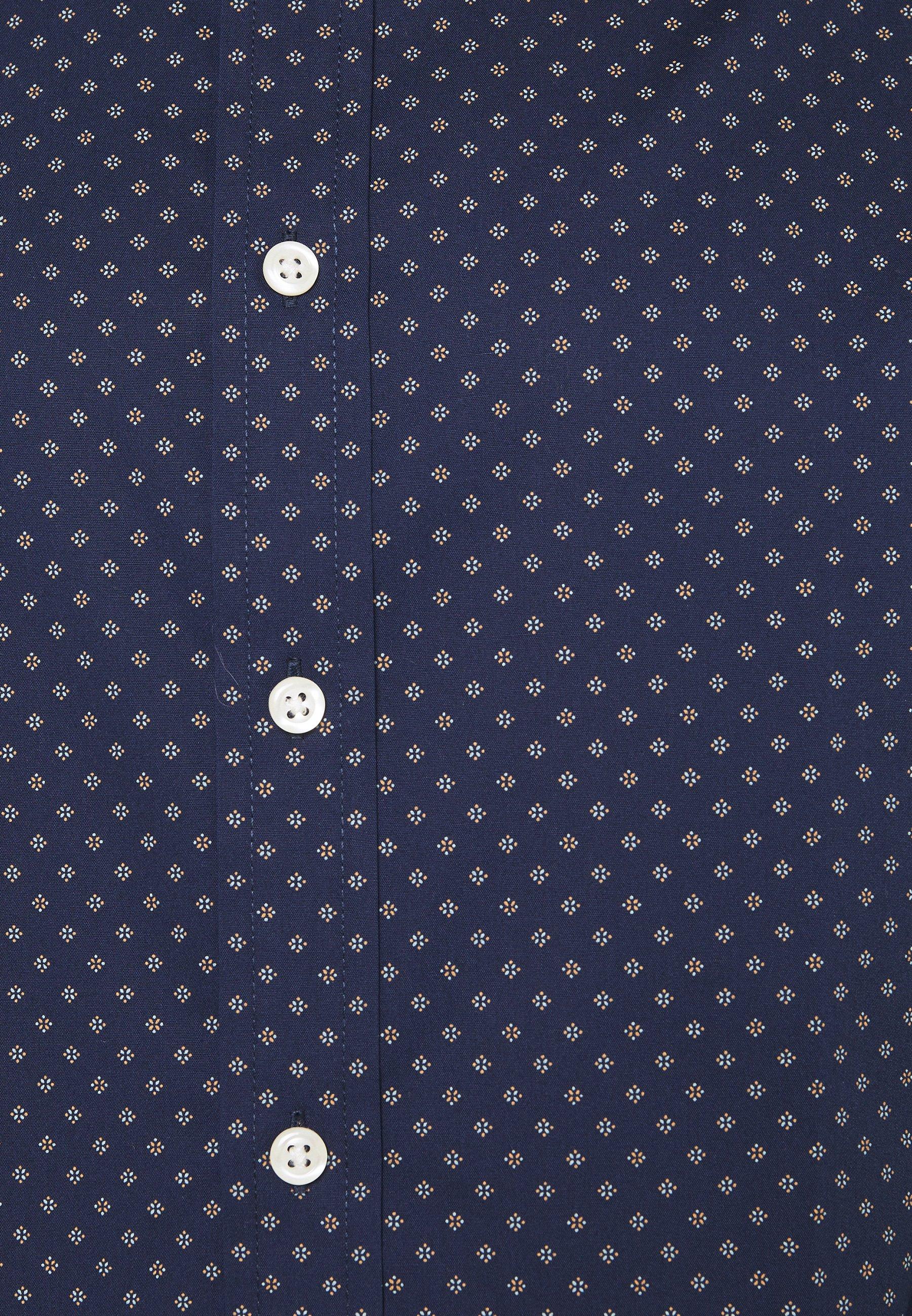 Izod Poplin Print - Skjorte Peacoat/mørkeblå