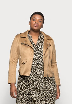 CARSHERRY BONDED - Faux leather jacket - toasted coconut