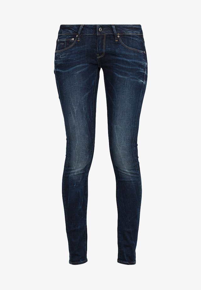 3301 LOW SUPER SKINNY - Vaqueros pitillo - neutro stretch denim