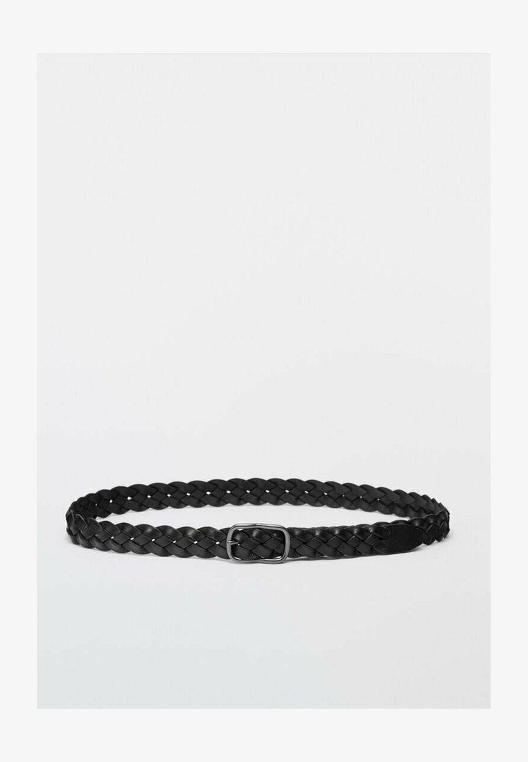 Massimo Dutti - Braided belt - black