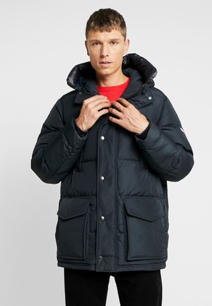 HOODED - Down coat - black